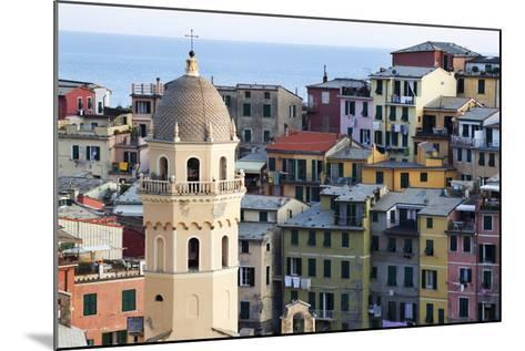 Santa Margherita Church and Colourful Buildings at Dusk-Mark Sunderland-Mounted Photographic Print