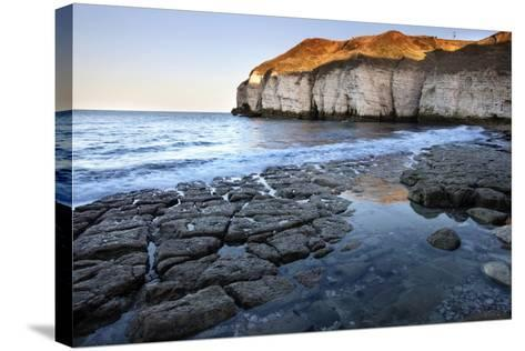 Thornwick Bay at Sunset-Mark Sunderland-Stretched Canvas Print
