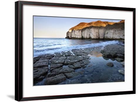 Thornwick Bay at Sunset-Mark Sunderland-Framed Art Print