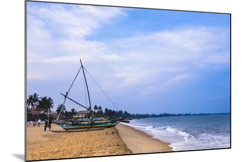 Traditional Outrigger Fishing Boat (Oruva), Negombo Beach, Negombo, Sri Lanka, Asia-Matthew Williams-Ellis-Mounted Photographic Print