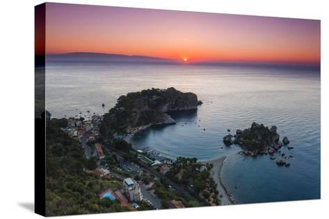 Isola Bella Beach and Isola Bella Island at Sunrise-Matthew Williams-Ellis-Stretched Canvas Print