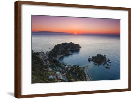 Isola Bella Beach and Isola Bella Island at Sunrise-Matthew Williams-Ellis-Framed Art Print