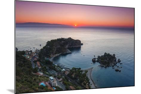 Isola Bella Beach and Isola Bella Island at Sunrise-Matthew Williams-Ellis-Mounted Photographic Print