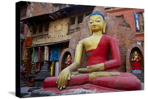 Buddha Statue-Simon Montgomery-Stretched Canvas Print