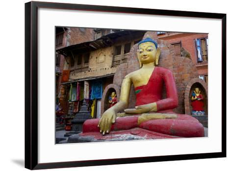 Buddha Statue-Simon Montgomery-Framed Art Print