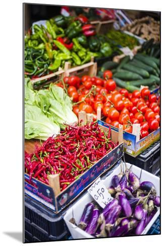 Chillies and Tomatoes for Sale at Capo Market-Matthew Williams-Ellis-Mounted Photographic Print
