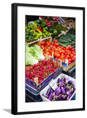 Chillies and Tomatoes for Sale at Capo Market-Matthew Williams-Ellis-Framed Art Print