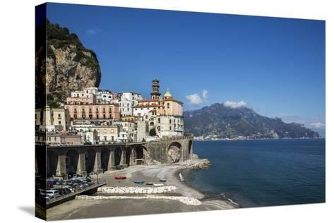 Atrani, Amalfi Peninsula, Amalfi Coast, UNESCO World Heritage Site, Campania-Angelo Cavalli-Stretched Canvas Print