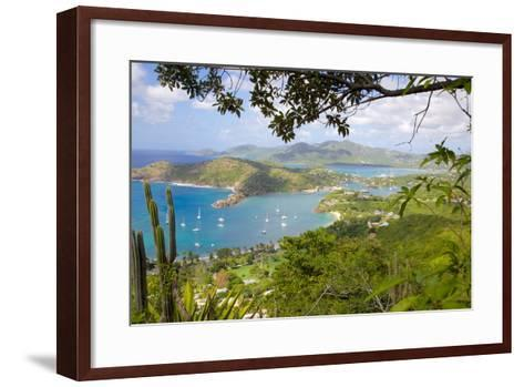 View of English Harbour from Shirley Heights-Frank Fell-Framed Art Print