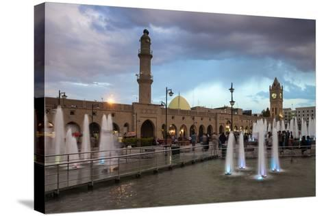 Shar Park, Clock Tower and Qaysari Bazaars, Erbil, Kurdistan, Iraq, Middle East-Jane Sweeney-Stretched Canvas Print