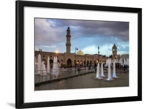 Shar Park, Clock Tower and Qaysari Bazaars, Erbil, Kurdistan, Iraq, Middle East-Jane Sweeney-Framed Art Print