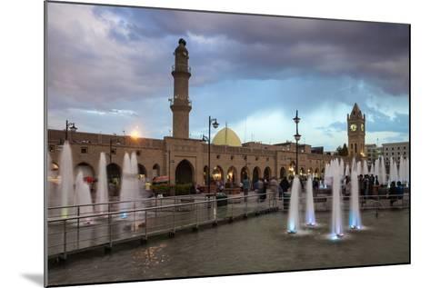 Shar Park, Clock Tower and Qaysari Bazaars, Erbil, Kurdistan, Iraq, Middle East-Jane Sweeney-Mounted Photographic Print