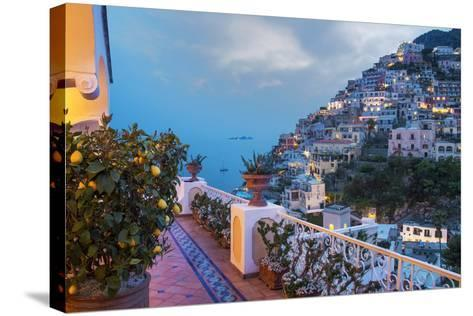 Positano, Amalfi Peninsula, UNESCO World Heritage Site, Campania, Italy, Mediterranean, Europe-Angelo Cavalli-Stretched Canvas Print