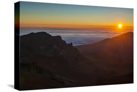 Sunrise Above Haleakala National Park, Maui, Hawaii, United States of America, Pacific-Michael Runkel-Stretched Canvas Print