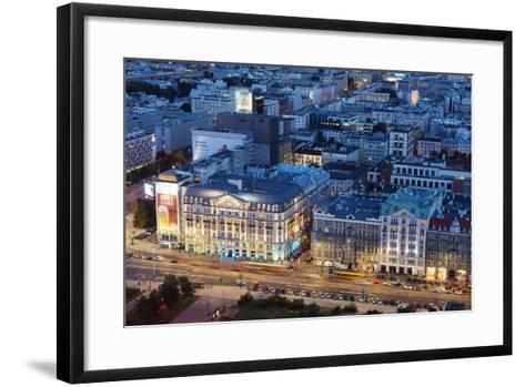 City View from Palace of Culture and Science, Warsaw, Poland, Europe-Christian Kober-Framed Art Print