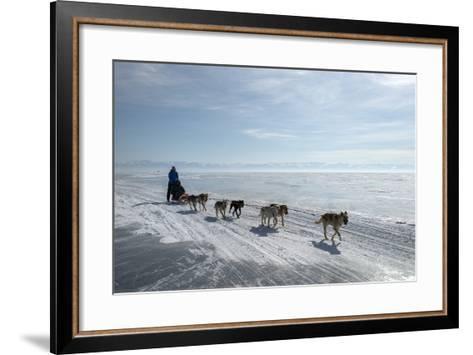 Visitors Enjoying Dog Sledding-Louise Murray-Framed Art Print