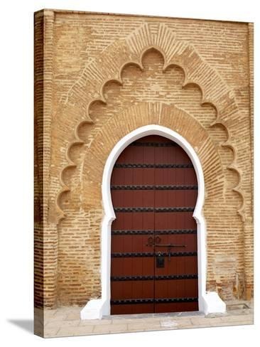 Traditional Doorway to Koutoubia Mosque-Simon Montgomery-Stretched Canvas Print