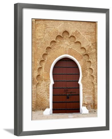 Traditional Doorway to Koutoubia Mosque-Simon Montgomery-Framed Art Print