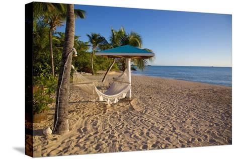 Hammock, Turner's Beach, St. Mary, Antigua, Leeward Islands-Frank Fell-Stretched Canvas Print