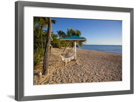 Hammock, Turner's Beach, St. Mary, Antigua, Leeward Islands-Frank Fell-Framed Art Print