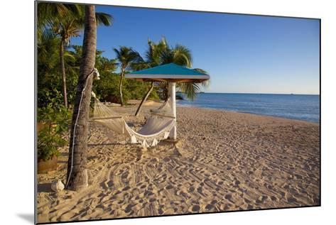 Hammock, Turner's Beach, St. Mary, Antigua, Leeward Islands-Frank Fell-Mounted Photographic Print