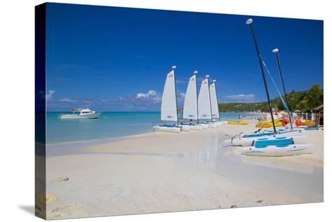 Beach, Dickenson Bay, St. Georges, Antigua, Leeward Islands-Frank Fell-Stretched Canvas Print