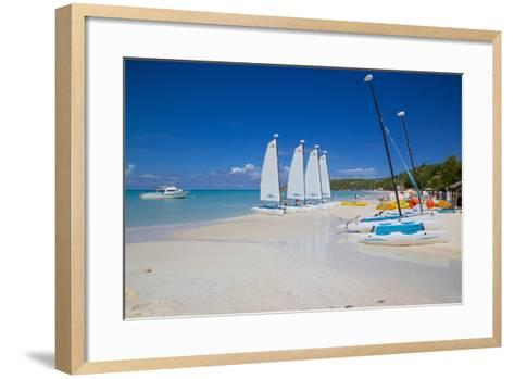 Beach, Dickenson Bay, St. Georges, Antigua, Leeward Islands-Frank Fell-Framed Art Print