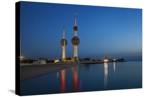 Kuwait Towers at Dawn, Kuwait City, Kuwait, Middle East-Jane Sweeney-Stretched Canvas Print