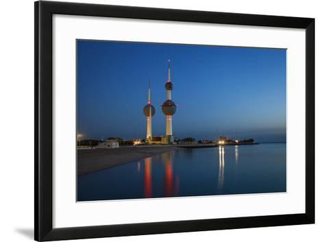 Kuwait Towers at Dawn, Kuwait City, Kuwait, Middle East-Jane Sweeney-Framed Art Print