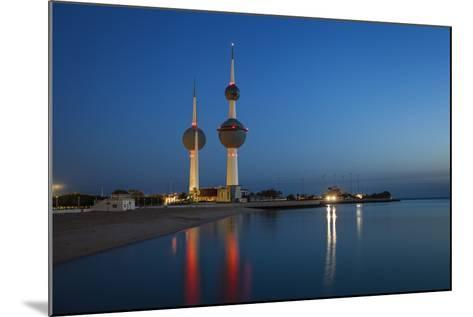 Kuwait Towers at Dawn, Kuwait City, Kuwait, Middle East-Jane Sweeney-Mounted Photographic Print
