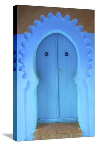 Traditional Blue Painted Door, Chefchaouen, Morocco, North Africa, Africa-Neil Farrin-Stretched Canvas Print
