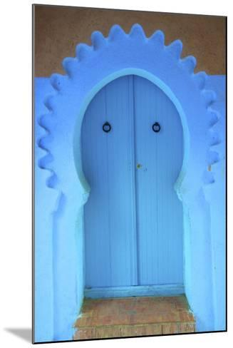 Traditional Blue Painted Door, Chefchaouen, Morocco, North Africa, Africa-Neil Farrin-Mounted Photographic Print
