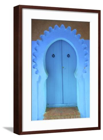 Traditional Blue Painted Door, Chefchaouen, Morocco, North Africa, Africa-Neil Farrin-Framed Art Print