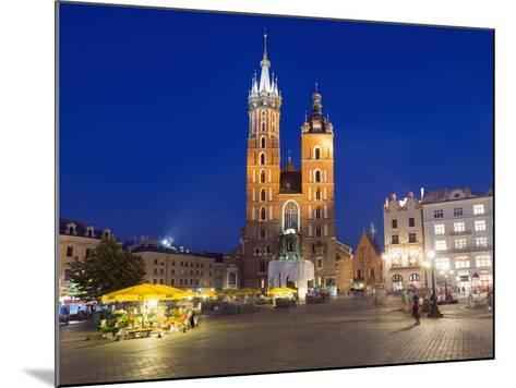 Rynek Glowny (Town Square) and St. Mary's Church-Christian Kober-Mounted Photographic Print