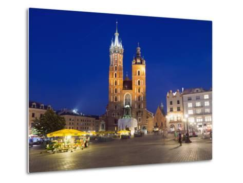 Rynek Glowny (Town Square) and St. Mary's Church-Christian Kober-Metal Print