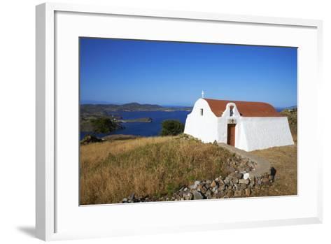 Small Church, Patmos, Dodecanese, Greek Islands, Greece, Europe--Framed Art Print