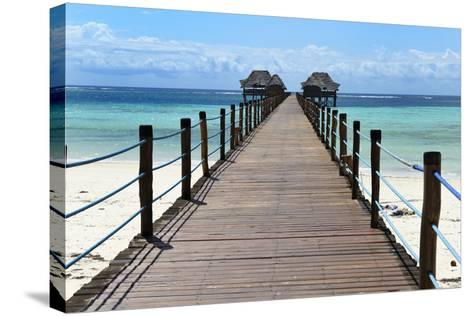 Hotel Jetty, Bwejuu Beach, Zanzibar, Tanzania, Indian Ocean, East Africa, Africa-Peter Richardson-Stretched Canvas Print