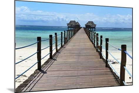 Hotel Jetty, Bwejuu Beach, Zanzibar, Tanzania, Indian Ocean, East Africa, Africa-Peter Richardson-Mounted Photographic Print