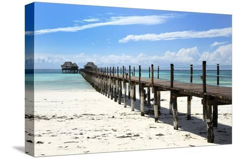 Hotel Jetty, Bwejuu Beach, Zanzibar, Tanzania, Indian Ocean, East Africa, Africa-Peter Richardson-Stretched Canvas Print