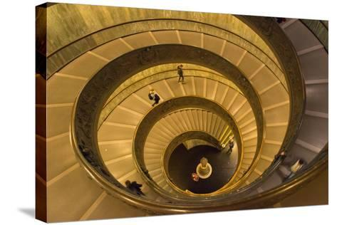 Spiral Stairs of the Vatican Museums, Designed by Giuseppe Momo in 1932, Rome, Lazio, Italy, Europe-Carlo Morucchio-Stretched Canvas Print