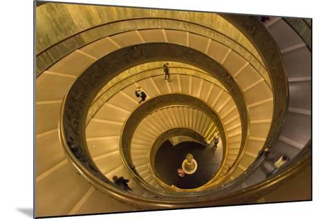 Spiral Stairs of the Vatican Museums, Designed by Giuseppe Momo in 1932, Rome, Lazio, Italy, Europe-Carlo Morucchio-Mounted Photographic Print