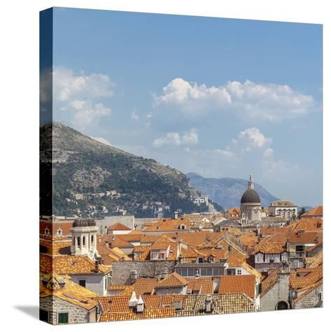 Rooftops of the Old Town, UNESCO World Heritage Site, Dubrovnik, Dalmatia, Croatia, Europe-Charlie Harding-Stretched Canvas Print