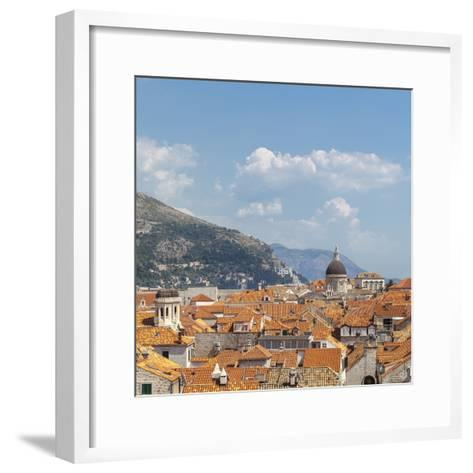 Rooftops of the Old Town, UNESCO World Heritage Site, Dubrovnik, Dalmatia, Croatia, Europe-Charlie Harding-Framed Art Print