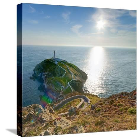 South Stack Lighthouse, Holy Island, Anglesey, Gwynedd, Wales, United Kingdom, Europe-Alan Copson-Stretched Canvas Print