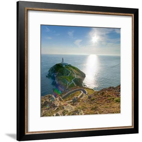 South Stack Lighthouse, Holy Island, Anglesey, Gwynedd, Wales, United Kingdom, Europe-Alan Copson-Framed Art Print