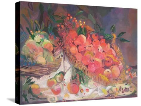 Still Life with Fruit-John Erskine-Stretched Canvas Print