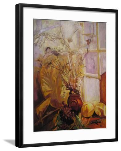 Spray in a Vase, Tuscany Window-John Erskine-Framed Art Print