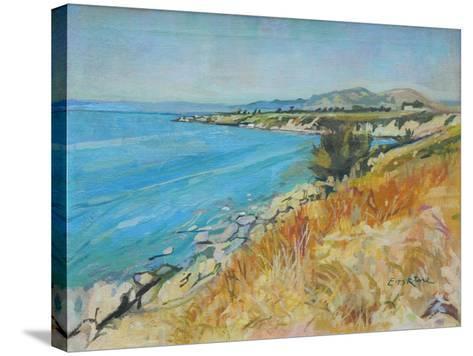 Pefkos Bay, Rhodes-John Erskine-Stretched Canvas Print