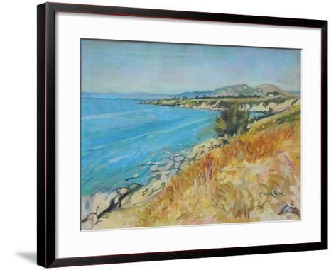 Pefkos Bay, Rhodes-John Erskine-Framed Art Print