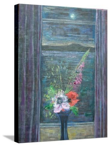 Summer Night (Bouquet in Window), 2013-Ruth Addinall-Stretched Canvas Print